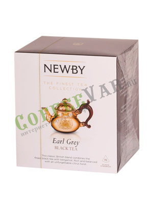 Чай Newby Эрл грей в пирамидках 15 шт