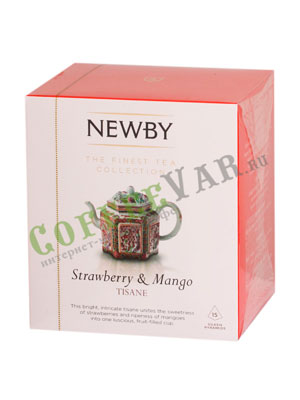 Чай Newby Клубника и манго в пирамидках 15 шт
