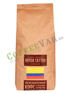 Кофе Artua Tattoo Coffeelab Колумбия Консака бленд в зернах 1 кг