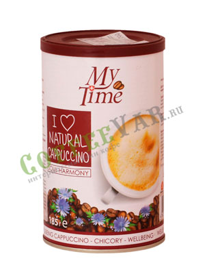 Кофе My Time Soul Harmony Капучино с натуральным кофе и цикорием ж.б. 180 гр
