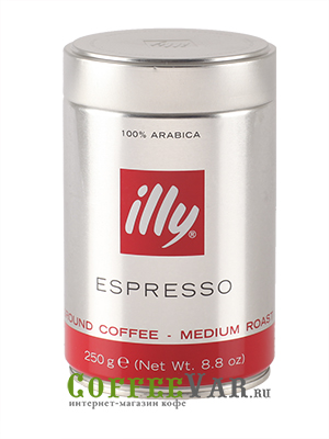 Кофе Illy молотый Espresso Coffee Medium 250гр