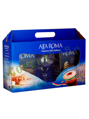 Подарочный набор Alta Roma (2 вида кофе и бокал)