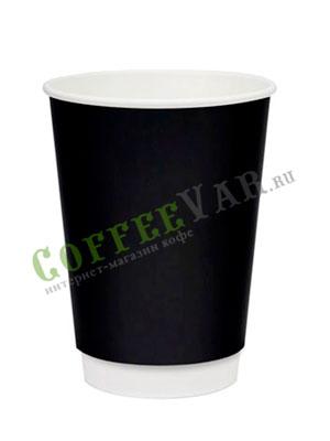 Стакан бумажный Thermo Cup двухслойный 250 мл черный