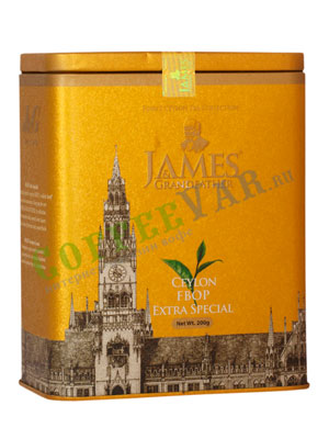 Чай James Grandfather FBOP Soure Tin. Черный, ж.б. 200 гр