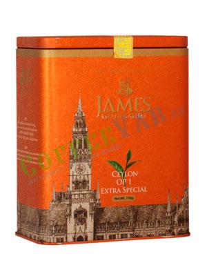 Чай James Grandfather OP1 Soure Tin. Черный, ж.б. 150 гр
