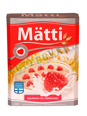 Овсяная каша Matti малина со сливками