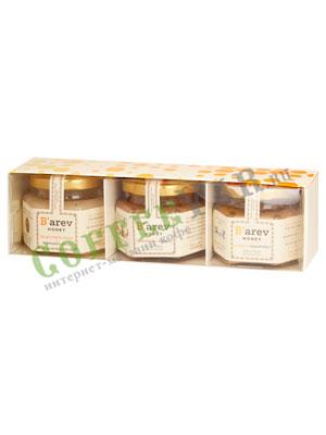 Подарочный набор Меда Barev honey (цветочный луговой, корица, имбирь)