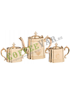 Набор для чаепития сахарница чайник молочник 500-1100-400 мл (877-411)