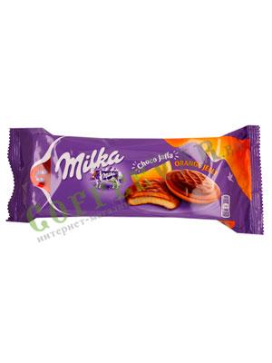 Бисквитное печенье Milka Choco jaffa orange 147 гр