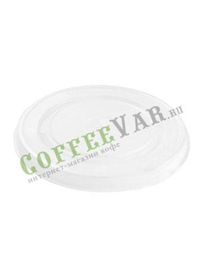 Крышка для бумажных стаканов под трубочку 90 мм (Прозрачная)