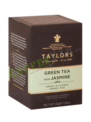 Чай пакетированный Taylors of Harrogate Green Jasmine / Зеленый чай с цветками жасмина 20 шт