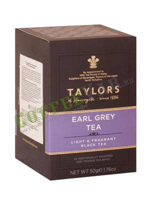Чай пакетированный Taylors of Harrogate Earl Grey / Эрл Грей 20 шт
