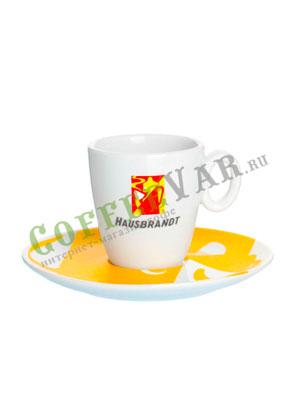 Чашка Hausbrandt эспрессо Золотое блюдце