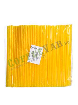 Трубочки б/изгиба L=24см [250шт]; D=0.8,L=24см; желтые