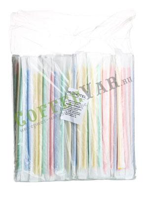 Трубочки со сгибом инд.упак. L=21см [250шт]; пластик; D=5,H=290,L=175,B=50мм; разноцветные