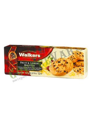 Бисквитное печенье Walkers фруктовое с лимоном 150 гр