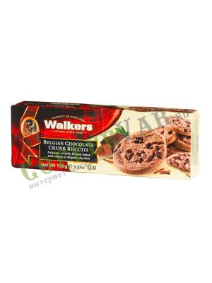 Бисквитное печенье Walkers с Бельгийском шоколадом 150 гр