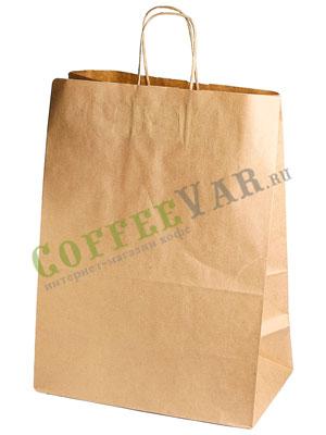 Пакет бумажный Крафт с крученными ручками 320-180-430мм