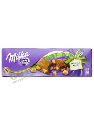 Шоколад Milka Whole Hazelnuts 250 гр