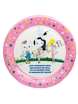 Бумажные тарелки 230 мм Детский, WB-ламин 100 шт