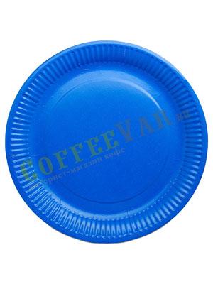Бумажные тарелки 230 мм Синяя 50 шт