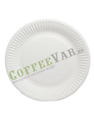 Бумажные тарелки 180 мм Кругл, рифл, мелованная 100 шт