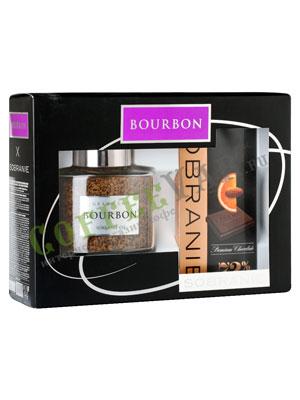 Подарочный набор Bourbon Grand Cru 100 г и шоколад Sobranie горький с апельсином 90 г