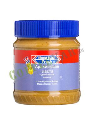 Паста American fresh арахисовая с дробленым орехом 340 гр