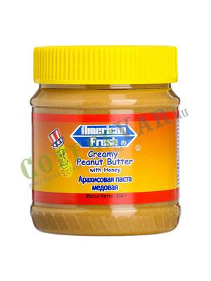 Паста American fresh арахисовая, медовая 340 гр