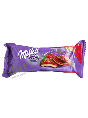 Бисквитное печенье Milka Choco jaffa raspberry 147 гр
