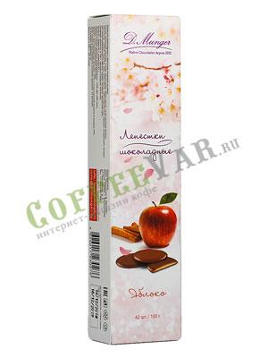 D.Munger Шоколадные лепестки с яблоком и корицей 100 гр