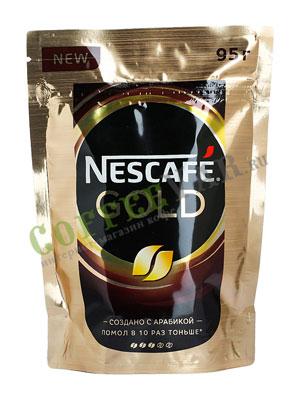 Кофе Nescafe Gold 95 гр пакет
