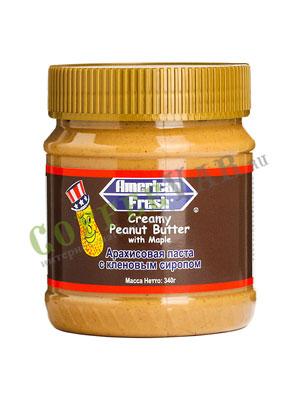 Паста American Fresh арахисовая с кленовым сиропом 340 гр