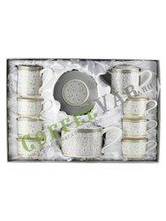 Чайный набор Lefard на 6 персон, 15 предметов, 130 мл (760-649)