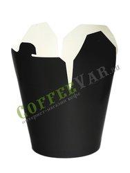 Бумажный контейнер чайна-бокс Черный, круглое дно 700 мл 138*94*98 (50шт)
