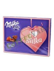 Шоколадные конфеты Milka I love с клубникой и кремом 120 гр