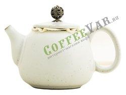 Чайник из керамики серо-голубой 250 мл (ZZT-01)