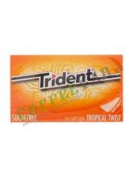 Жевательная резинка Trident Tropical Gum 27 г