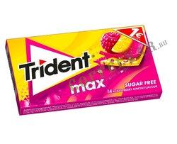 Жевательная резинка Trident MAX  малина-лимон