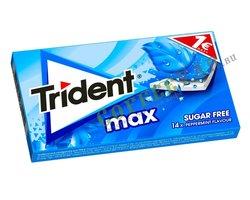 Жевательная резинка Trident MAX перечная мята  (Peppermint)