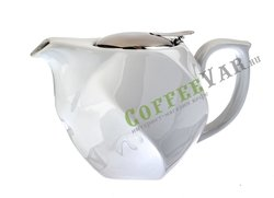 Чайник из керамики Agness 750 мл белый (470-188)