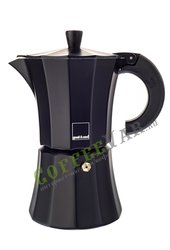 Гейзерная кофеварка Morosina на 6 чашек (300мл) Черная