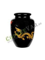 Чайница Черный дракон (фарфор) 220 мл (F-160)
