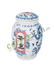 Чайница Синий цветок дракон (фарфор) 350 мл (F-039)