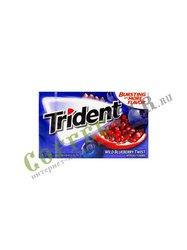 Жевательная резинка Trident Wild Blueberry Черника, гранат