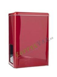 Банка для хранения чая с окошком красная Gutenberg на 1 кг