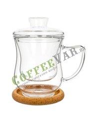 Чашка стеклянная Гиацинт с заварочной колбой 300 мл