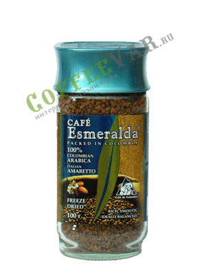 Кофе Cafe Esmeralda растворимый Итальянский Амаретто 100 г