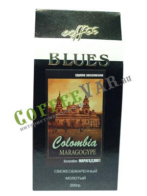 Кофе Блюз молотый Марагоджип Колумбия 200 гр