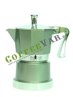 Гейзерная кофеварка Top Moka Caffettiera Super Top 3 порции (120 мл) серый